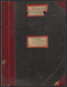 Sacco-Vanzetti Case Records, 1920-1928. Transcripts. Bound Trial Transcripts (belongs to Mr. Moore), 1921. Box 28, Volume 2, Harvard Law School Library, Historical & Special Collections