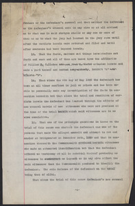 Sacco-Vanzetti Case Records, 1920-1928. Printed Materials. Unidentified typescripts, possibly related to the testimony of Alfred Elmer Cox, n.d. Box 42, Folder 20, Harvard Law School Library, Historical & Special Collections