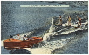 Aquaplaning at Atlantic Highlands, N. J.