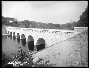 Wachusett Aqueduct, Assabet Bridge, Section 8, from the south, on east bank, Northborough, Mass., Oct. 8, 1897