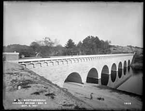 Wachusett Aqueduct, Assabet Bridge, Section 8, from the south, on west bank, Northborough, Mass., Oct. 8, 1897