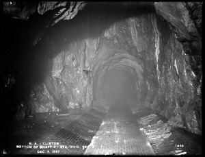 Wachusett Aqueduct, bottom of Shaft No. 2, Section 2, station 31+10, from the east (interior), Clinton, Mass., Dec. 9, 1897