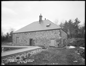 Distribution Department, Medford Pumping Station, southern shore between Pickerel Rock and Hadley Cove, Stoneham, Mass., Jan. 13, 1898