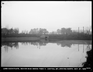 Sudbury Department, improvement of Lake Cochituate, Beaver Dam Brook from West Central Street, looking north, Natick, Mass., Oct. 27, 1906