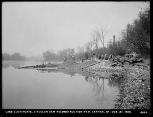 Sudbury Department, improvement of Lake Cochituate, reconstruction of Circular Dam at West Central Street, Natick, Mass., Oct. 27, 1906