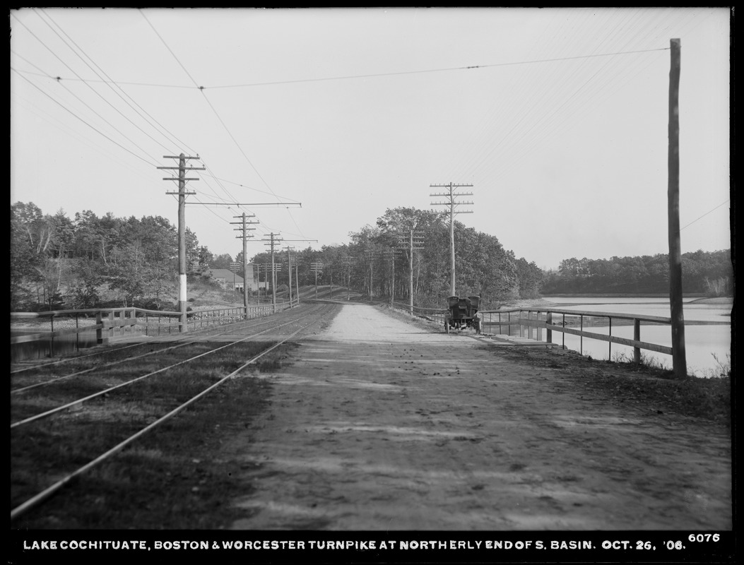 Sudbury Department, improvement of Lake Cochituate, Boston & Worcester Turnpike at northerly end of south basin, Natick, Mass., Oct. 26, 1906