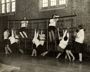 Lower School Girls in the Colby Gymnasium