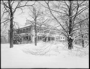 Loring-Greenough House with three large trees