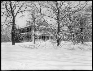 Loring-Greenough House in the snow