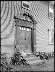 Front doorway of the Reverend John Williams House, Albany Road, Old Deerfield, Mass.