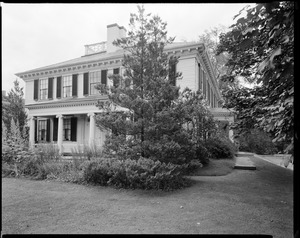 Left side and front of Loring-Greenough House, 12 South Street, Jamaica Plain