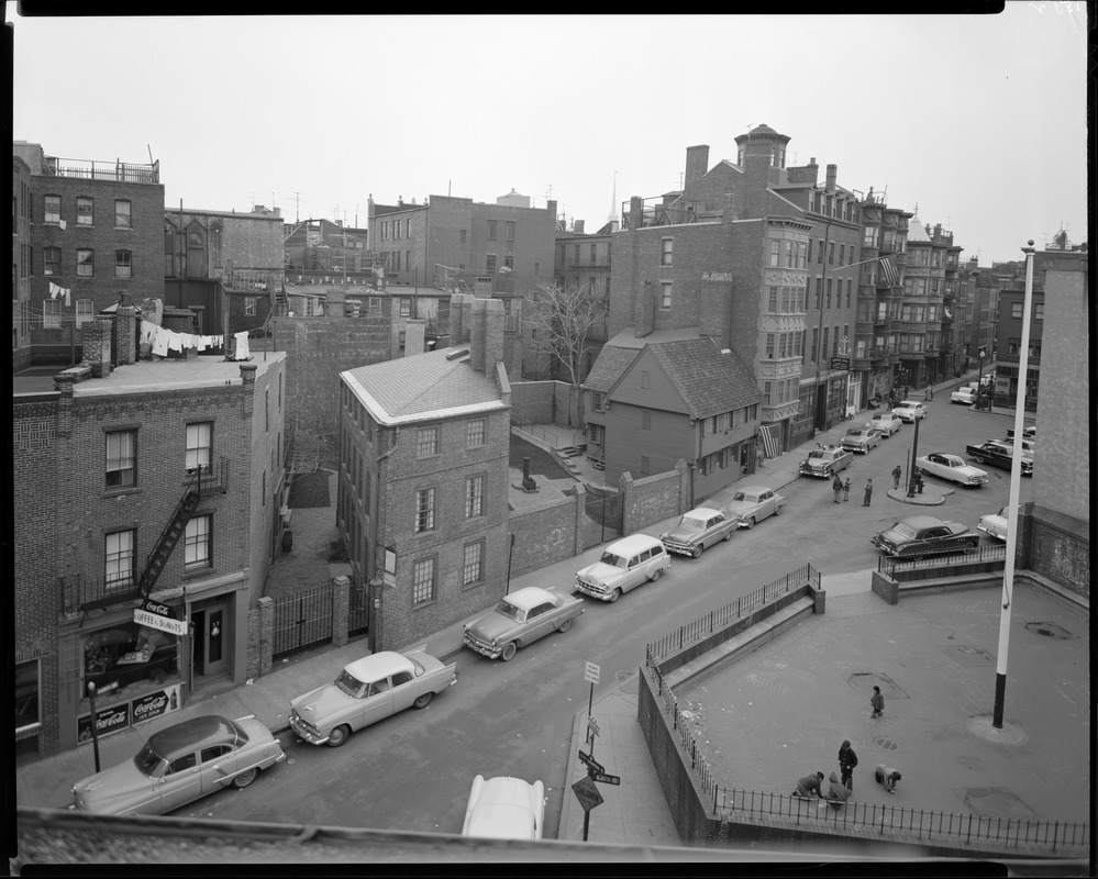 Moses Pierce-Hichborn House and Paul Revere House in North Square, North End