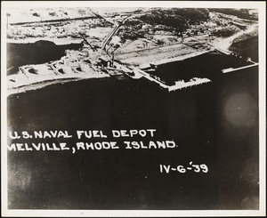 Aerial view of US Naval Fuel Depot