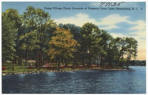 Camp Village picnic grounds at Prospect Point, Lake Hopatcong, N. J.
