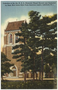 Cathedral of the Air, N. A. S., memorial chapel erected and dedicated by Dept. New Jersey State Posts American Legion, Lakehurst, N. J.