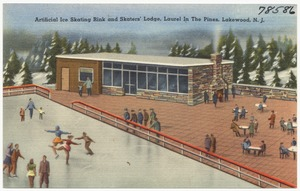 Artificial ice skating rink and skater's lodge, Laurel in the Pines, Lakewood, N. J.