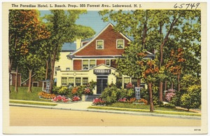 The Paradise Hotel, 505 Forrest Ave., Lakewood, N. J.