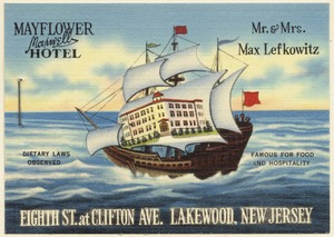 Mayflower Maxwell Hotel, Eighth St., at Clifton Ave., Lakewood, New Jersey