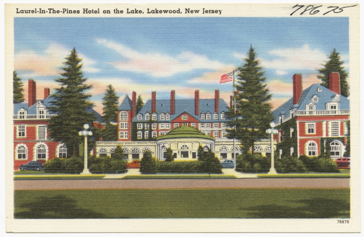 Laurel In The Pines Hotel On Lake Lakewood New Jersey
