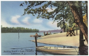 Bathing beach -- Lake Carasaljo, Lakewood, N. J.