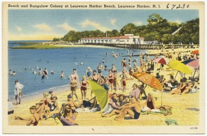 Beach and bungalow colony at Laurence Harbor Beach, Laurence Harbor, N. J.