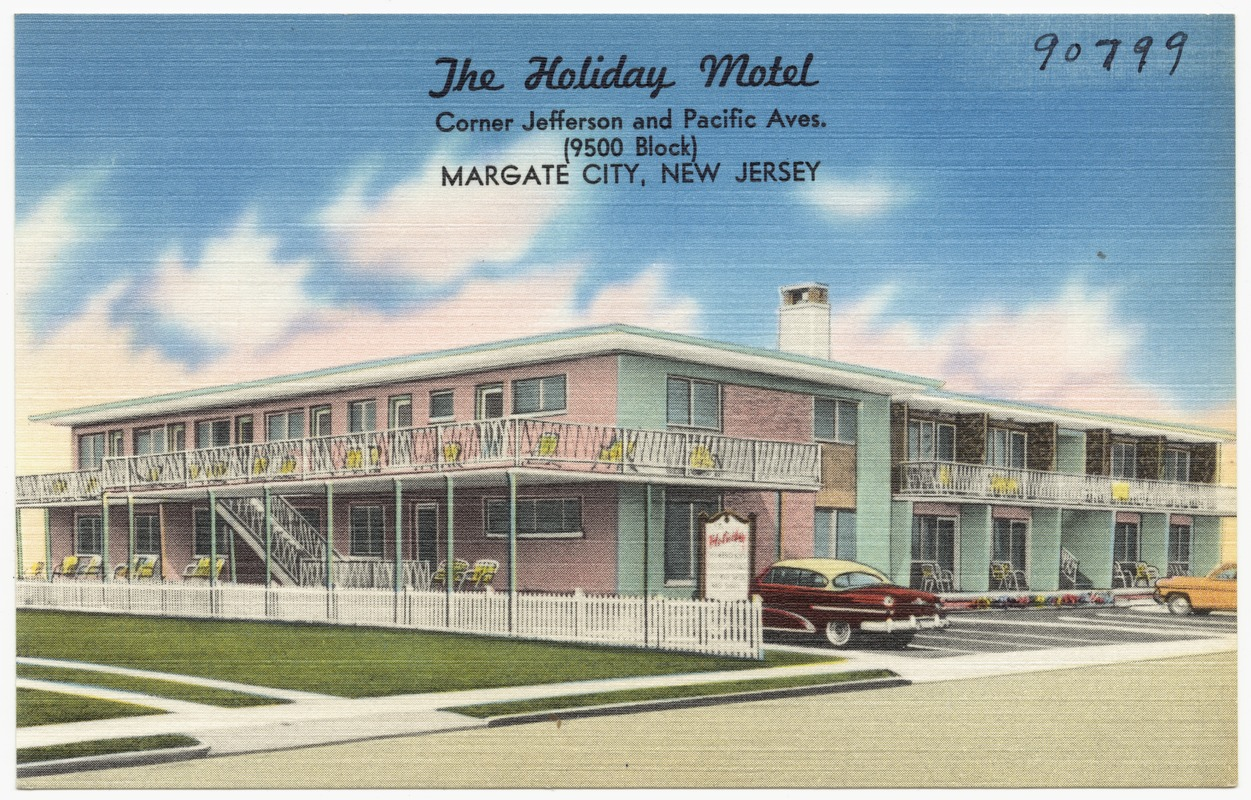 The Holiday Motel Corner Jefferson And Pacific Aves 9500 Block Margate City New Jersey