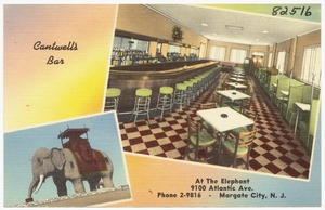 Cantwell's Bar, at the Elephant, 9100 Atlantic Ave., Margate City, N. J.