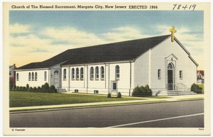 Church of the Blessed Sacrament, Margate City, New Jersey, erected 1946