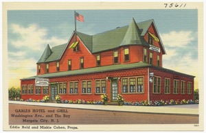 Gables Hotel and Grill, Washington Ave., and the Bay, Margate City, N. J.