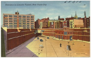 Entrance to Lincoln Tunnel, New York City