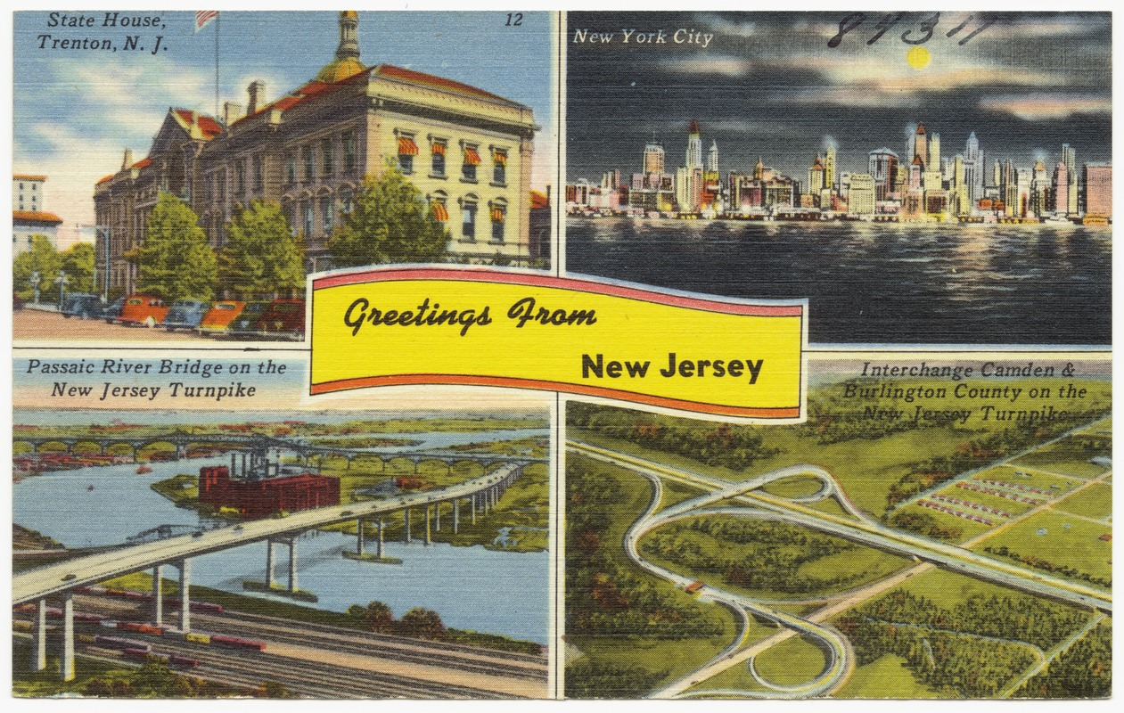 Greetings from new jersey state house trenton n j new york greetings from new jersey state house trenton n j new york city passaic river bridge on new jersey turnpike interchange camden burlington county kristyandbryce Images