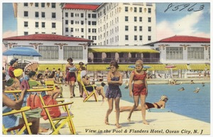 View in the pool & Flanders Hotel, Ocean City, N. J.