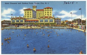 Hotel Flanders and outdoor pools, Ocean City, N. J.
