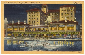 The Flanders, at night, Ocean City, N. J.