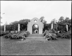 Entrance to rose garden, Franklin Park
