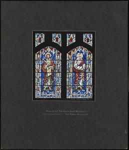 Design for east aisle window nearest the entrance, Congregational Church, West Medford, Massachusetts