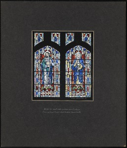 Design for west aisle window nearest the entrance, Congregational Church, West Medford, Massachusetts
