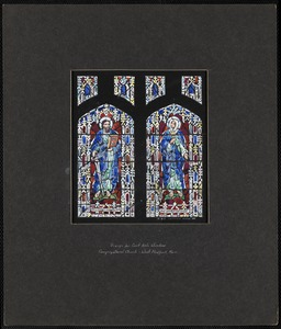 Design for east aisle window, Congregational Church, West Medford, Mass.