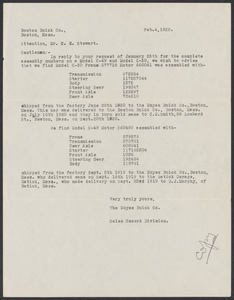Sacco-Vanzetti Case Records, 1920-1928. Prosecution Papers. D.P. Ranney Correspondence, February 1925. Box 23, Folder 3, Harvard Law School Library, Historical & Special Collections