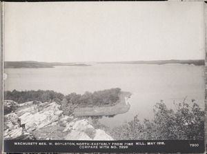 Wachusett Department, Wachusett Reservoir, northeasterly from Pine Hill (compare with No. 7299), West Boylston, Mass., May 1, 1916