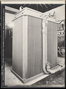 Sudbury Department, Sudbury Dam Hydroelectric Power Plant, 750 kilovolt ampere, 13200 volt to 2200 volt transformer, Southborough, Mass., Feb. 7, 1917