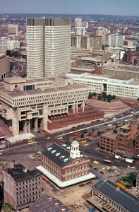 Kennedy Office Building, City Hall, and Faneuil Hall, Boston