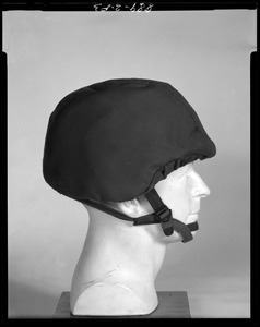 Body armor, face shield, side view