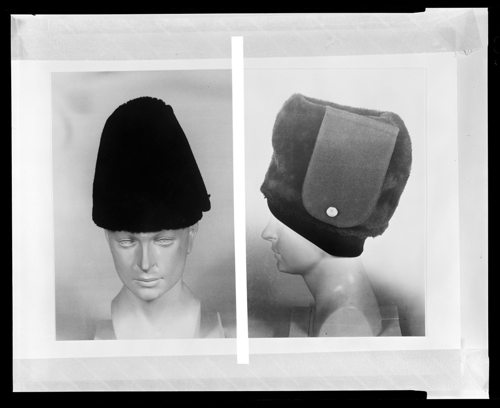 CEMEL, hats, front + side view