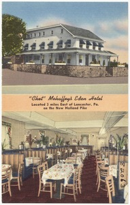 """Chet"" Mehaffey's Eden Hotel, located 3 miles east of Lancaster, Pa., on the new Holland Pike"