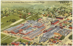 Aerial view of Lebanon Steel Foundry, Lebanon, Penna.