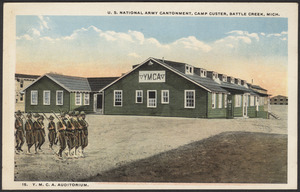 Y.M.C.A. Auditorium. U. S. National Army Cantonment, Camp Custer, Battle Creek, Mich.