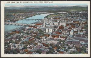 Bird's-eye view of Springfield, Mass., from Aeroplane