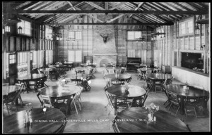 Dining hall, Centerville Mills Camp, Cleveland Y.M.C.A.