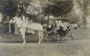 Fenn, Alden family with horse and wagon
